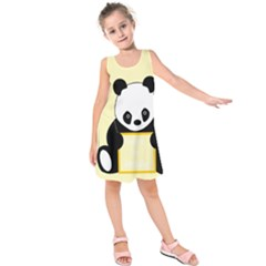 First Birthday Panda Card Kids  Sleeveless Dress