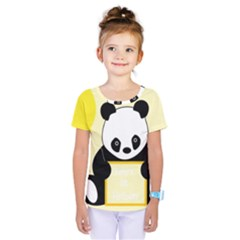 First Birthday Panda Card Kids  One Piece Tee