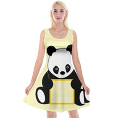First Birthday Panda Card Reversible Velvet Sleeveless Dress