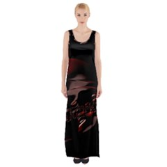 Fractal Mathematics Abstract Maxi Thigh Split Dress