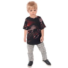Fractal Mathematics Abstract Kids  Raglan Tee