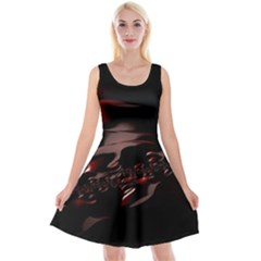 Fractal Mathematics Abstract Reversible Velvet Sleeveless Dress