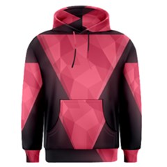 Geometric Triangle Pink Men s Pullover Hoodie