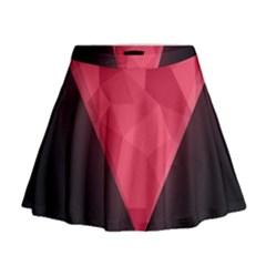 Geometric Triangle Pink Mini Flare Skirt