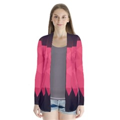 Geometric Triangle Pink Cardigans