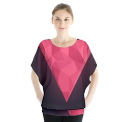 Geometric Triangle Pink Blouse