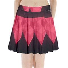 Geometric Triangle Pink Pleated Mini Skirt