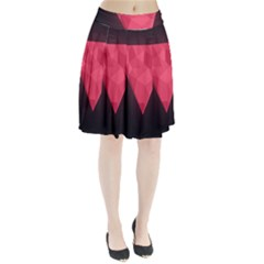 Geometric Triangle Pink Pleated Skirt