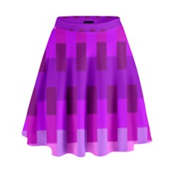 Geometric Cubes Pink Purple Blue High Waist Skirt