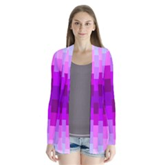 Geometric Cubes Pink Purple Blue Cardigans