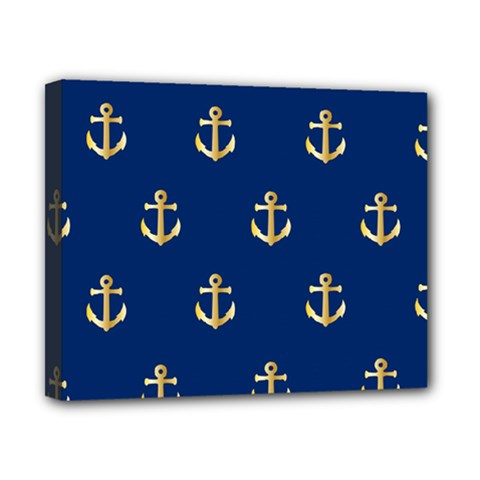 Gold Anchors Background Canvas 10  x 8