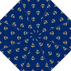 Gold Anchors Background Folding Umbrellas