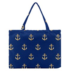 Gold Anchors Background Medium Zipper Tote Bag