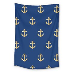 Gold Anchors Background Large Tapestry