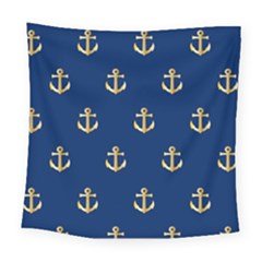 Gold Anchors Background Square Tapestry (large)