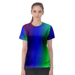 Graphics Gradient Colors Texture Women s Sport Mesh Tee