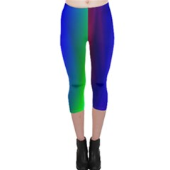 Graphics Gradient Colors Texture Capri Leggings