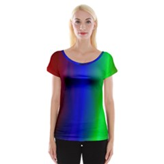 Graphics Gradient Colors Texture Women s Cap Sleeve Top