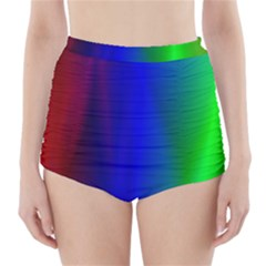 Graphics Gradient Colors Texture High-Waisted Bikini Bottoms