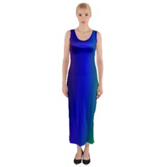 Graphics Gradient Colors Texture Fitted Maxi Dress