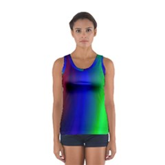 Graphics Gradient Colors Texture Women s Sport Tank Top