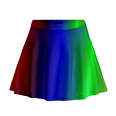 Graphics Gradient Colors Texture Mini Flare Skirt