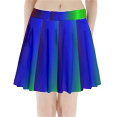 Graphics Gradient Colors Texture Pleated Mini Skirt