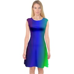 Graphics Gradient Colors Texture Capsleeve Midi Dress