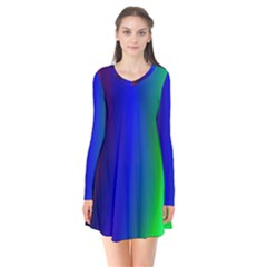 Graphics Gradient Colors Texture Flare Dress