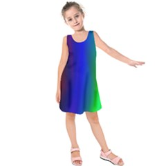 Graphics Gradient Colors Texture Kids  Sleeveless Dress