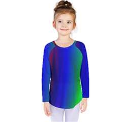 Graphics Gradient Colors Texture Kids  Long Sleeve Tee
