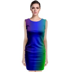 Graphics Gradient Colors Texture Sleeveless Velvet Midi Dress