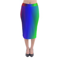 Graphics Gradient Colors Texture Velvet Midi Pencil Skirt