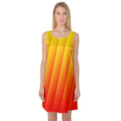 Graphics Gradient Orange Red Sleeveless Satin Nightdress