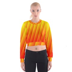 Graphics Gradient Orange Red Women s Cropped Sweatshirt