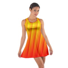 Graphics Gradient Orange Red Cotton Racerback Dress