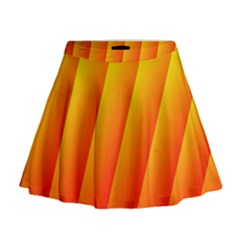 Graphics Gradient Orange Red Mini Flare Skirt
