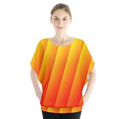 Graphics Gradient Orange Red Blouse