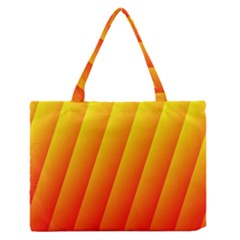 Graphics Gradient Orange Red Medium Zipper Tote Bag