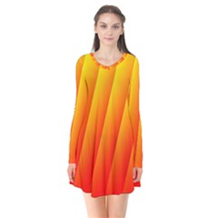 Graphics Gradient Orange Red Flare Dress