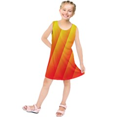 Graphics Gradient Orange Red Kids  Tunic Dress