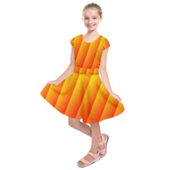 Graphics Gradient Orange Red Kids  Short Sleeve Dress
