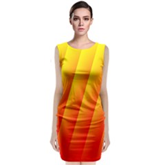 Graphics Gradient Orange Red Sleeveless Velvet Midi Dress