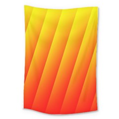 Graphics Gradient Orange Red Large Tapestry