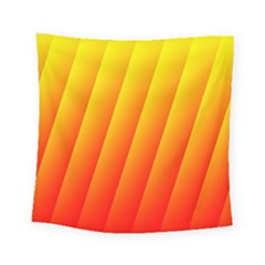 Graphics Gradient Orange Red Square Tapestry (small)