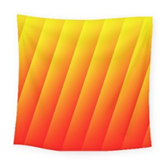 Graphics Gradient Orange Red Square Tapestry (large)