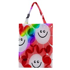 Happy Flowers Classic Tote Bag