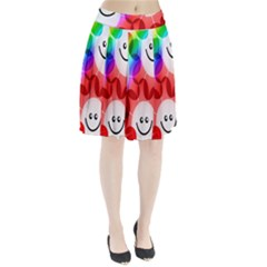 Happy Flowers Pleated Skirt