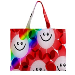 Happy Flowers Medium Tote Bag