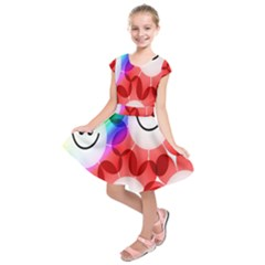 Happy Flowers Kids  Short Sleeve Dress